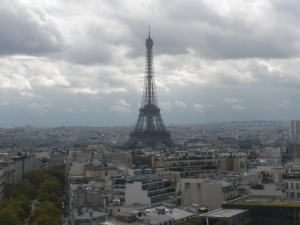 View from top of Arc de Triomphe