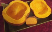 Pumpkin in baking pan