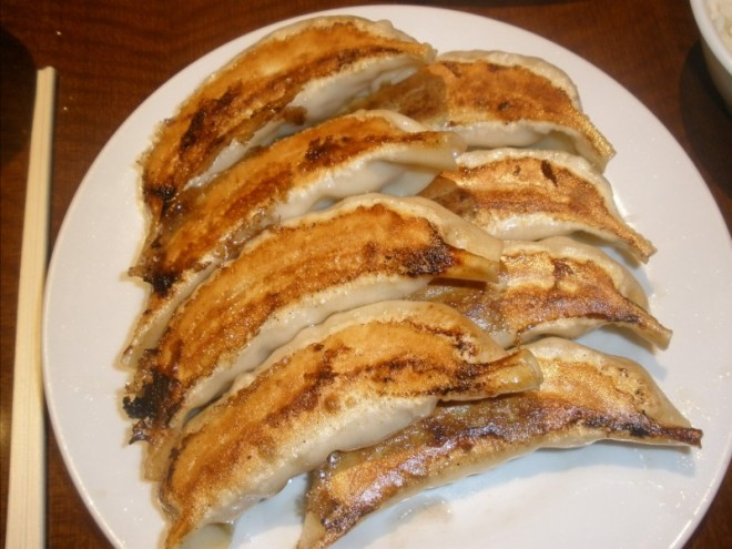 Giant Pan-Fried Pork and Shrimp Gyoza